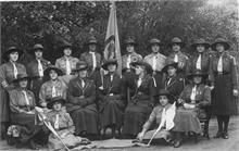 3rd North Walsham Guides. Capt Mrs Aitken, wife of vicar, seated centre