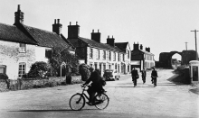 Cyclists at Abbey Street, Bacton.
