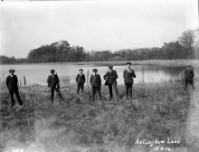 Youths at Antingham Lake.