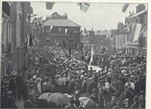 Children singing in the Market Place for the Diamond Jubilee 1897.
