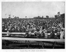 Coronation Dinner for Edward V11, 1902, on meadow between the railway stations.