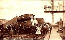 Derailment of the 666 locomotive, at North Walsham's Great Eastern Railway Station.