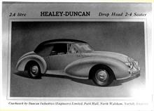 Duncan Industries (Engineers) Ltd. Park Hall, New Road, North Walsham. Healey-Duncan 2.4 litre drop head