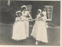 Elizabeth and Barbara Blewitt dance with Nancy and Jean Hart (daughters of Dr. Hart) at Aylsham House in the 1920's.