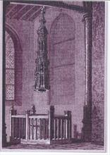 The Font North Walsham Church, drawn by J.F. Neale, engraved by J.Le Keux.