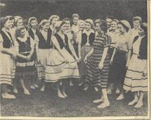 G.F.S. North Walsham, dance at the Royal Albert Hall before the Queen in 1950.