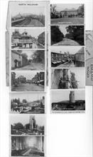 Guide to North Walsham - postcard - mini photos concealed in book