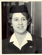 Holloway Prison: Pauline Nearney in uniform in her capacity as a prison officer.