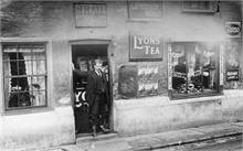 Jack Hall at his general stores in Mundesley Road.