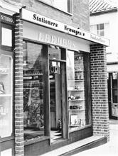 Leeders Stationery Shop in North Walsham Market Place
