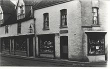 Miss Long's shop, corner Church Street and Market Place.