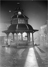 North Walsham Market Cross on a rainy night