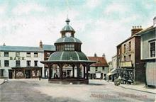 North Walsham Market Place - 1907. Postcard.