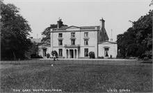 The Oaks, North Walsham. Probably Mrs Wilkinson with dog. Demolished in the 1930s