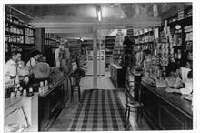 Refurbishment of Rackstraws Grocery, 16 Market Street. Jack Laws on left, Dennis Allen, far right and Oliver Fisher on right..