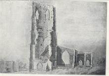 St Nicholas' Church Tower after 1724 but before a second fall in 1835.