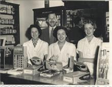 Staff of Ling's Chemist Shop 1957.