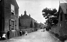 Old postcard of Swafield Village high street in 1908.