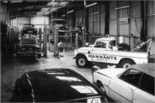 Workshop interior at Hannant's Garage, Bacton Road.