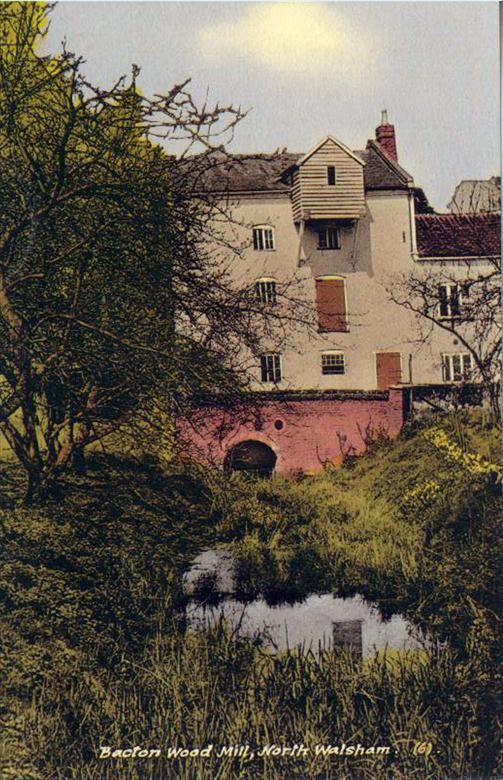 Photograph. Bacton Wood Mill, N Walsham - postcard (North Walsham Archive).