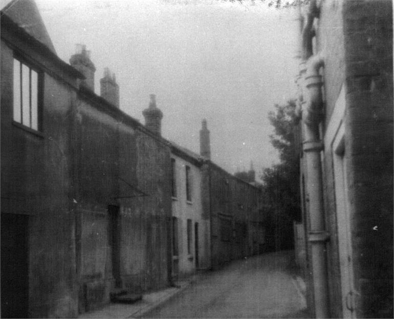 Photograph. Bank Loke Cottages (North Walsham Archive).