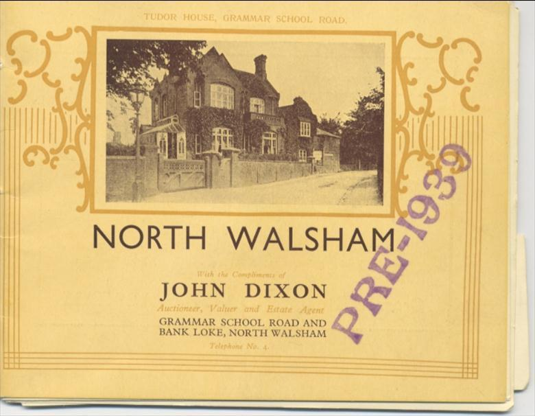 Photograph. Booklet to advertise John Dixon's estate agents. (North Walsham Archive).
