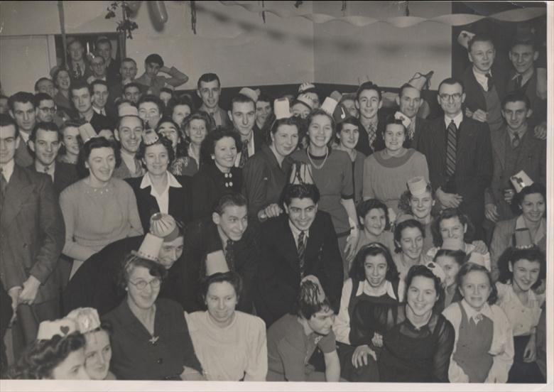 Photograph. Canning Factory Staff Dance. (North Walsham Archive).
