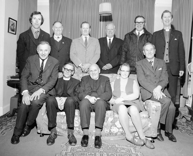 Photograph. St Nicholas' Church magazine committee 1960s (North Walsham Archive).
