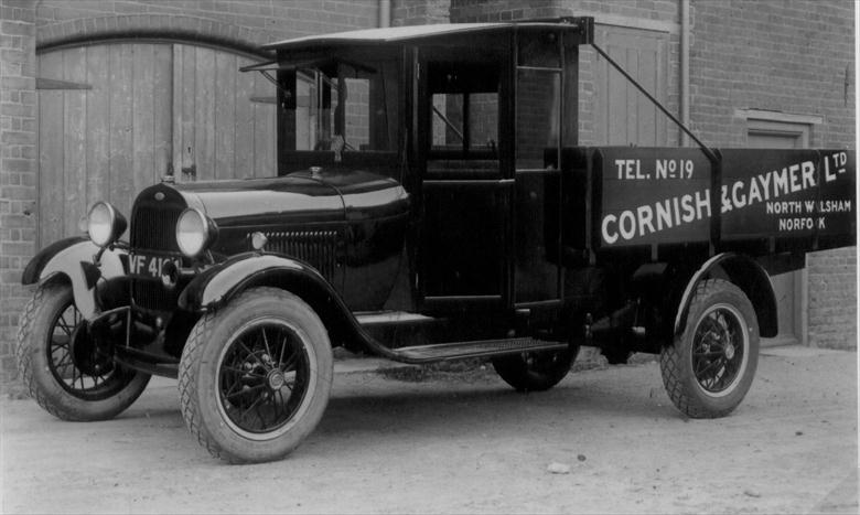 Photograph. Cornish and Gaymer's lorry. Bodywork built by Cornish & Gaymer, Millfield works, Norwich Road, North Walsham. (North Walsham Archive).
