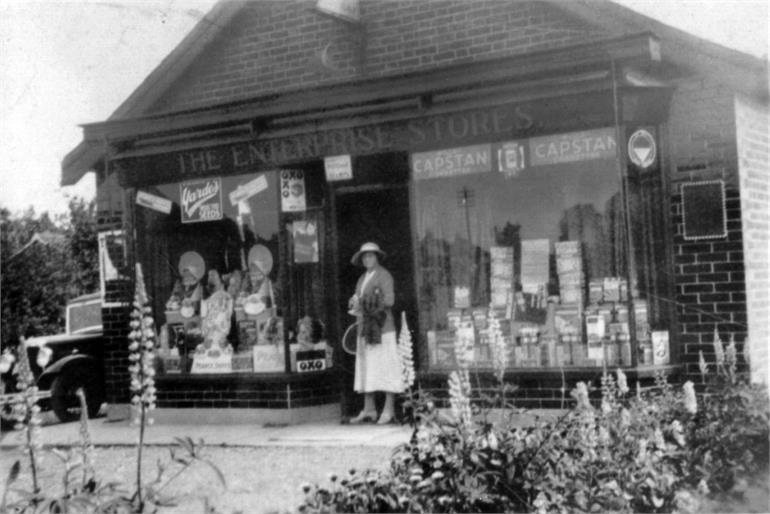 Photograph. Enterprise Stores, Station Road (North Walsham Archive).