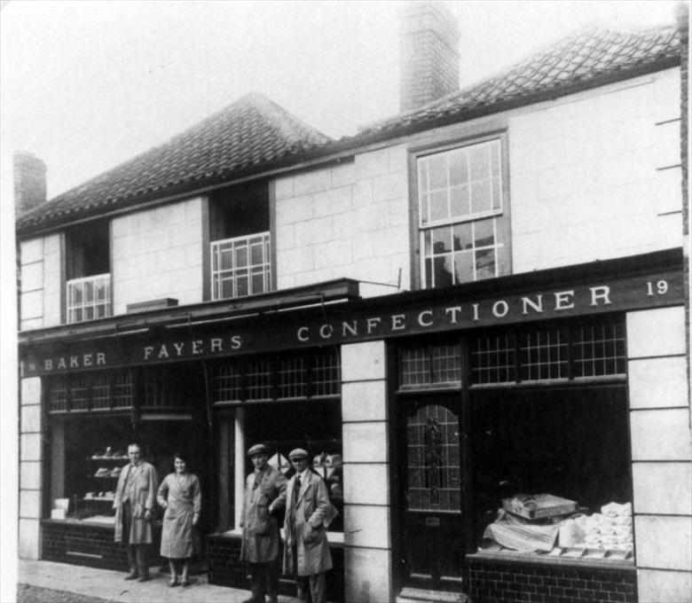 Photograph. Fayers Bakery, 19 Mundesley Road, North Walsham (North Walsham Archive).