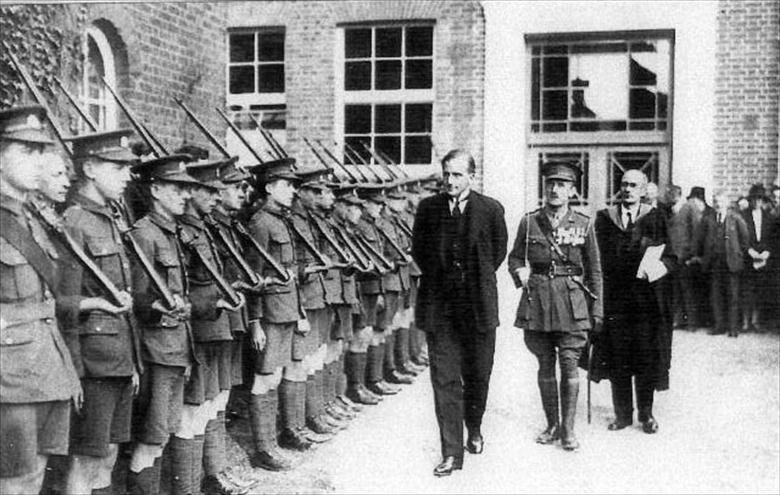 Photograph. Guard of Honour.Paston School Cadet Force at the opening of a classroom block by Lord Eustace,President, Board of Education Photo-RML (North Walsham Archive).