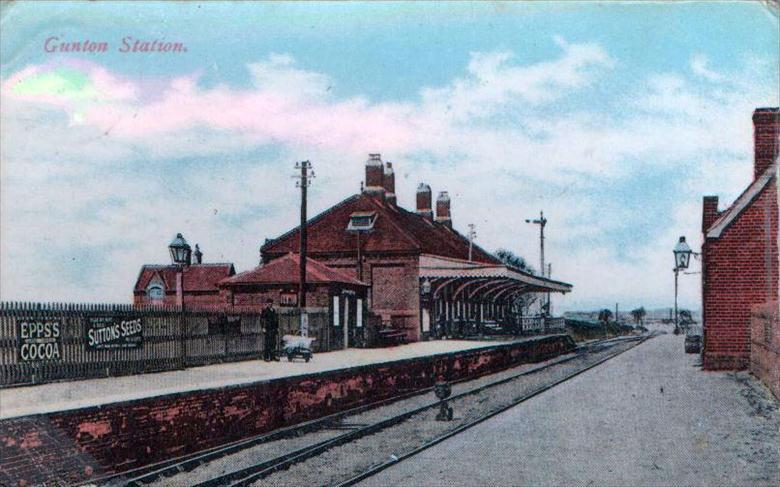 Photograph. Gunton Station, Southrepps. Built for Lord Suffield, Gunton Hall, when the G.E.R. railway was built across his land. (North Walsham Archive).