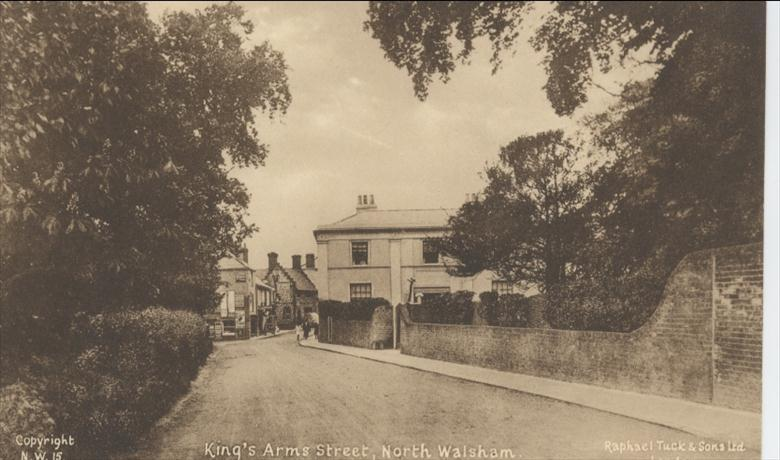Photograph. Kings Arms Street North Walsham. (North Walsham Archive).