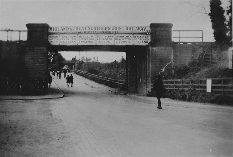 Photograph. M&GN Railway Bridge, Norwich Road, North Washam