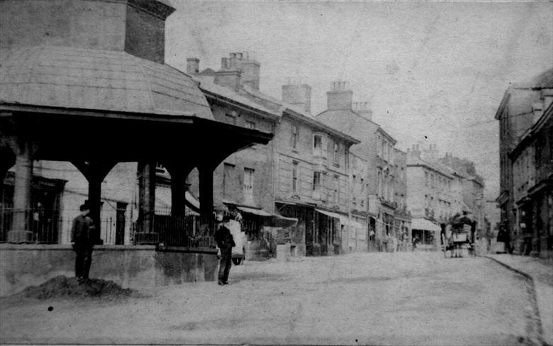 Photograph. Market Place, North Walsham, looking east. Photo G.McLean (North Walsham Archive).