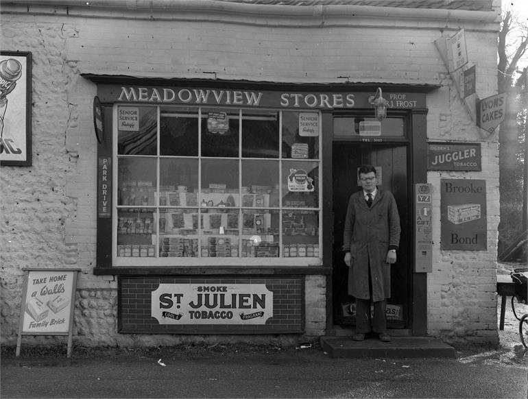 Photograph. Meadowview Stores, Mundesley Road. (North Walsham Archive).