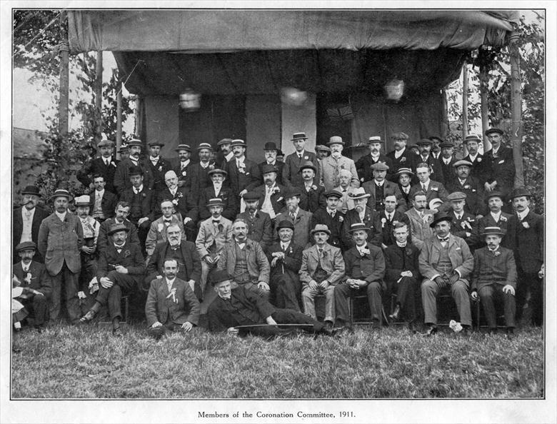 Photograph. Members of the Coronation Committee, May 1911 (North Walsham Archive).