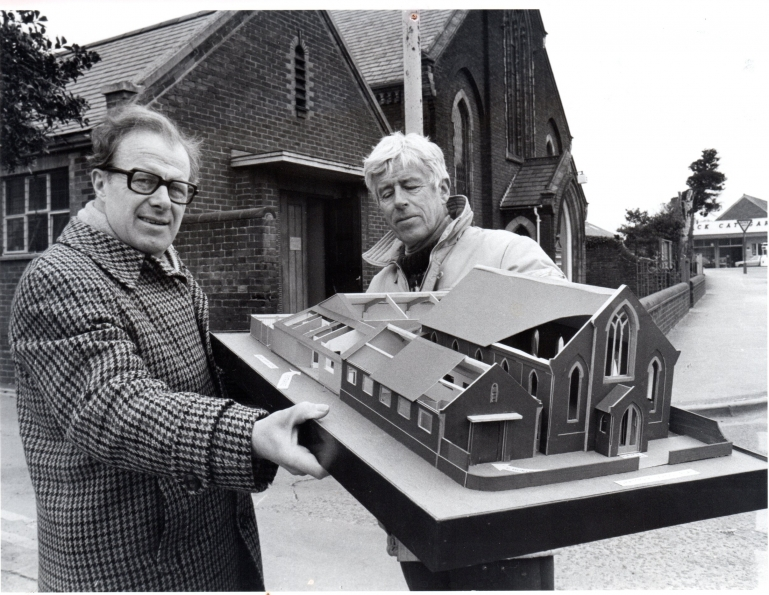 Photograph. Methodist Church model 1985 (North Walsham Archive).