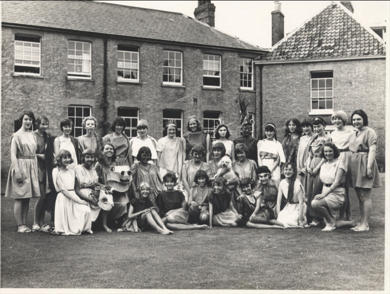 Photograph. A Midsummer Night's Dream, full cast. N.W.G.H.S. (North Walsham Archive).