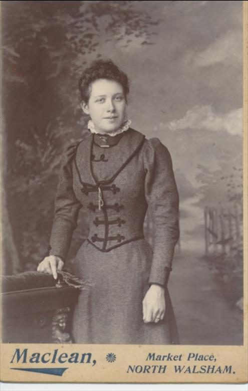 Photograph. Mrs Selina Maclean nee Dixon (North Walsham Archive).