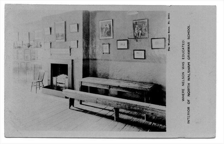 Photograph. The Nelson Room, Paston Grammar School, North Walsham (North Walsham Archive).