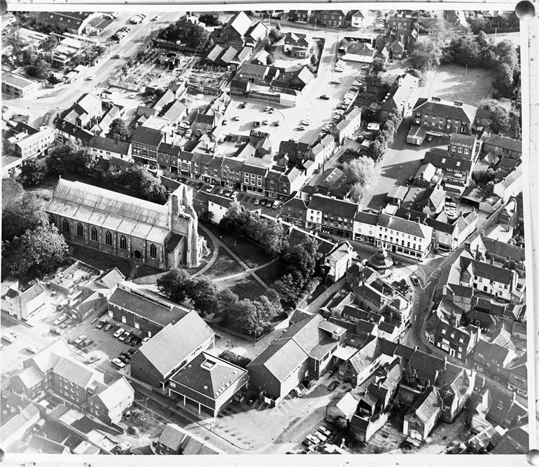 Photograph. North Walsham aerial photo 1975 (North Walsham Archive).