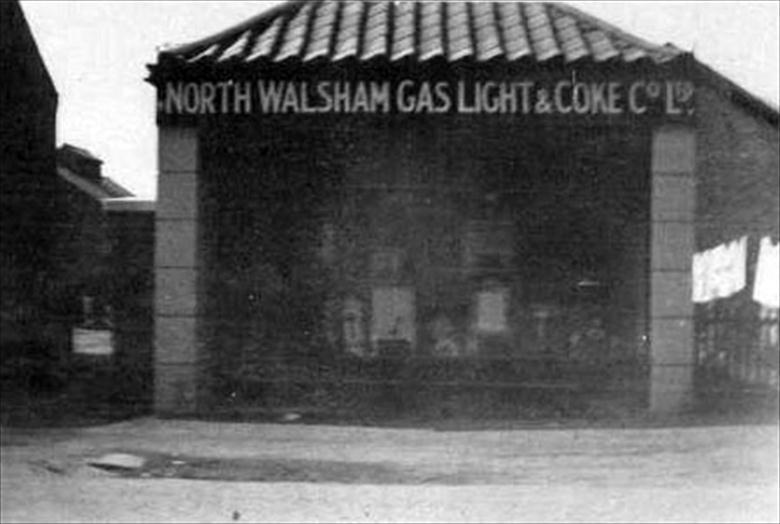 Photograph. North Walsham Gas Works Shop in Mundesley Road. (North Walsham Archive).
