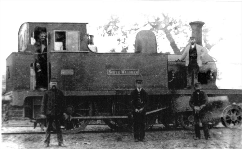 Photograph. The North Walsham locomotive (North Walsham Archive).