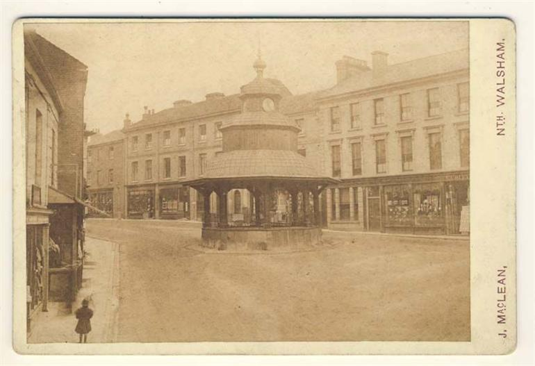 Photograph. North Walsham Market Cross - Photograph by J MacLean. (North Walsham Archive).