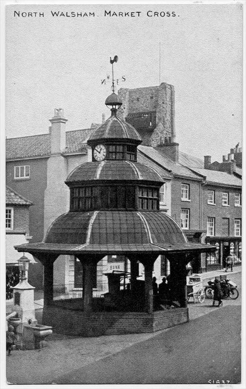 Photograph. North Walsham Market Cross (North Walsham Archive).