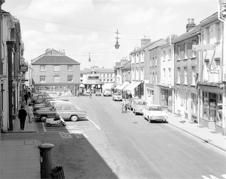 Photograph. North Walsham Market Place c1970 (North Walsham Archive).