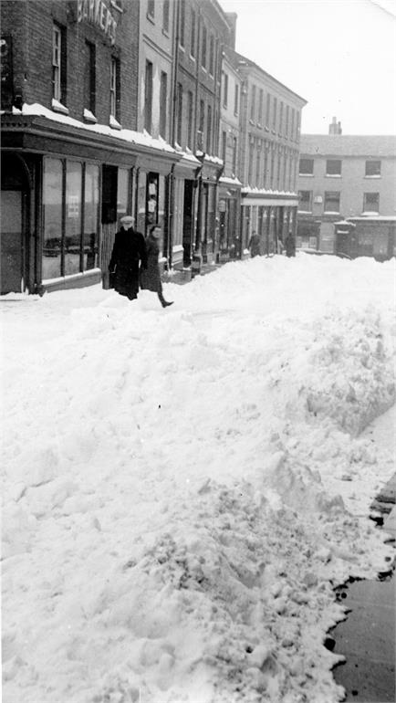 Photograph. North Walsham Town Centre in Snow. 1947. (North Walsham Archive).