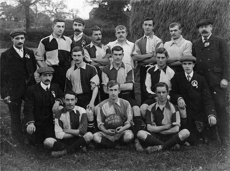 Photograph. North Walsham Town Football Club 1907-1908. (North Walsham Archive).